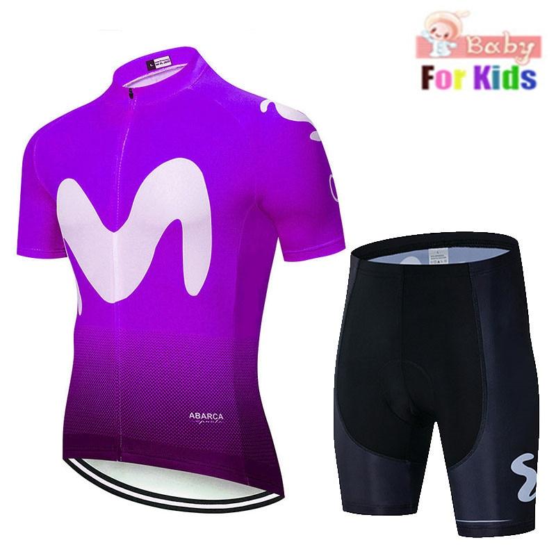 Купить с кэшбэком 2019 new Kids Breathable Cycling Clothing Children Bike Jerseys Shorts sets Bicycle Top Ropa Ciclismo Boy mtb Shirts Suit black