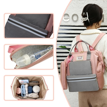 diaper bag handbags for moms multi function wetbag travel backpack large capacity with insulted pocket handbag nappy bags tote Weysfor Nappy Backpack Bag Mummy Large Capacity Bag Mom Baby Multi-function Waterproof Outdoor Travel Diaper Bags For Baby Care
