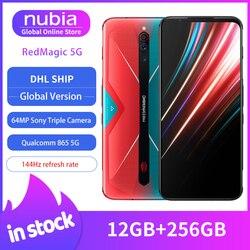 Глобальная версия Nubia Red Magic 5G мобильный телефон 6,65 дюймов 12 Гб 256 ГБ Snapdragon 865 NFC игровой телефон WIFI 6 Android 10