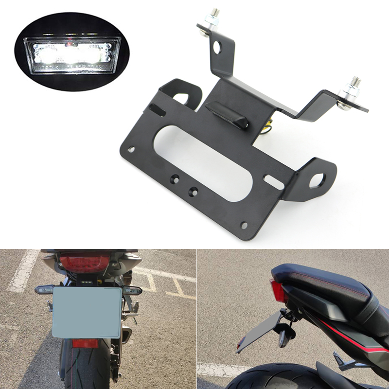 For Honda CBR650R CB650R 2019 2020 Registration Plate Holder Rear Tail Tidy License Plate Holder Bracket Fender Eliminator Black|License Plate| |  - title=