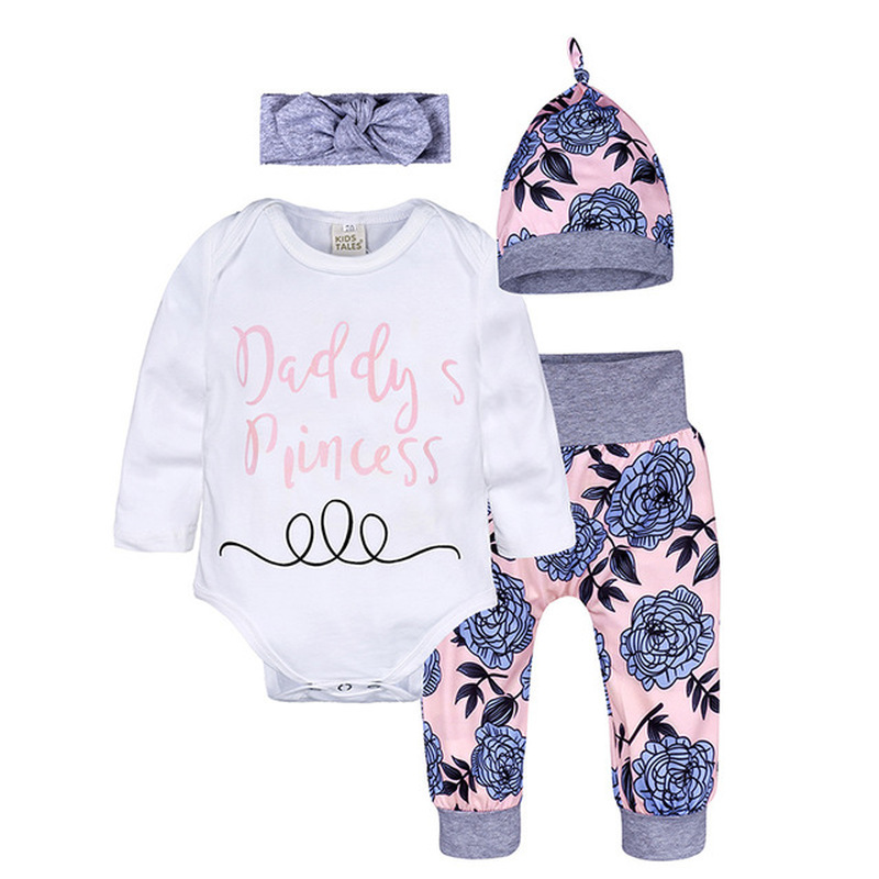 Winter Autumn Newborn Baby Clothes Set Infant Cotton Boys Girl Clothing Hats Rompers Pants 3piece Set Baby Christmas Outfits in Clothing Sets from Mother Kids
