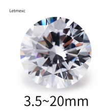 цены 3.0~20mm 5A Grade CZ Stone White  Round Brilliant Cut Loose Cubic Zirconia Stone For Jewelry