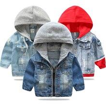 Джинсовая куртка для маленьких мальчиков коллекция года, осенне-зимние куртки для мальчиков, пальто Детская верхняя одежда, пальто для мальчиков, одежда детская куртка для детей возрастом от 2 до 7 лет