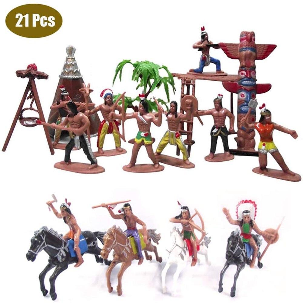 Пластиковые индийские фигурки игрушечная лошадь палатка тотем дикий запад ковбой миниатюрный набор отлично подходит для детей как школьны...