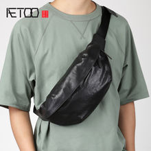 Кожаная модная нагрудная сумка aetoo Мужская индивидуальная