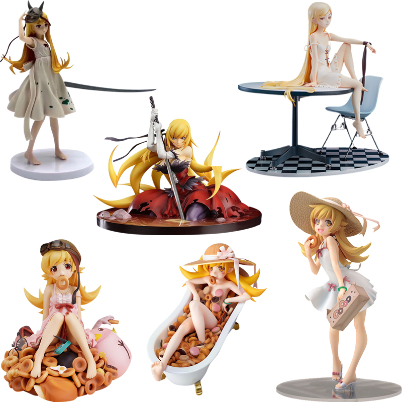 Nisemonogatari Monogatari Oshino Shinobu Bakemonogatari PVC Action Figure Toy Japan Anime Sexy Girls Adult Collection Model Doll