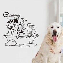 Парикмахерская наклейка для собак магазин домашних животных настенные наклейки -постеры виниловые художественные наклейки декор Настенна...