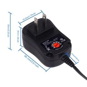 Image 4 - قابل للتعديل الجهد 3 فولت 4.5 فولت 5 فولت 6 فولت 7.5 فولت 9 فولت 12 فولت UK/US/EUPlug موائم مصدر تيار استبدال 2 ~ 8 قطعة C حجم AM2 LR14 بطارية مزيل