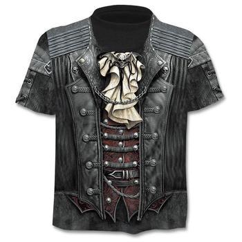 2019 Summer New 3d Skull T shirt Men Short sleeve Funny shirts Rock Japan Punk Anime Gothic 3dT-shirt Mens Clothing