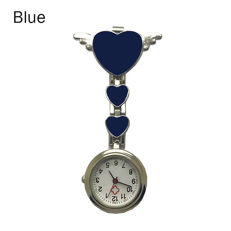 Nurse Pocket Watches Round Dial Quartz Angel Band Brooch Doctor Hanging Watches HSJ88