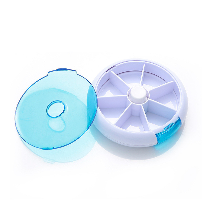Image 2 - Weekly Rotating Pill Box Travel Pill Case Splitter Pill Organizer Medicine Box 7 Day Pill Cutter Tablet Container-in Pill Cases & Splitters from Beauty & Health