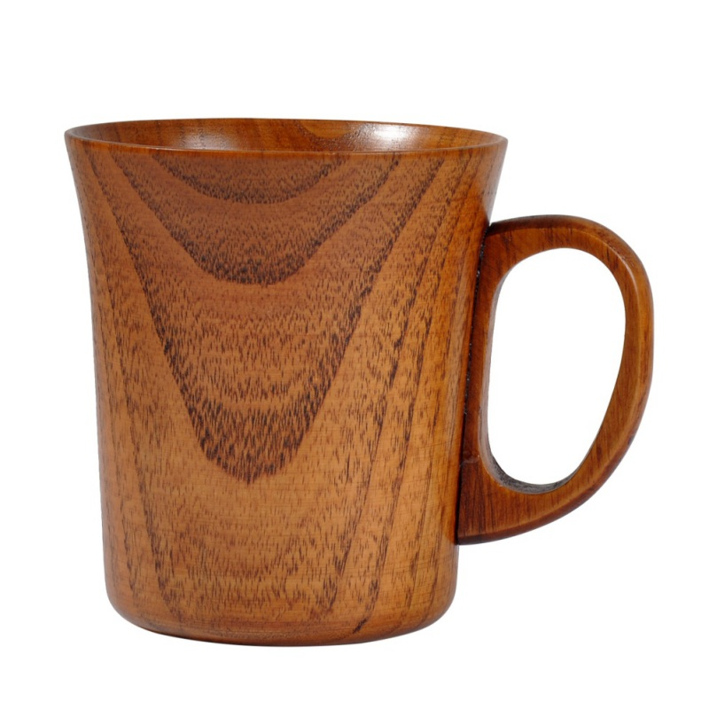 Jujube Wood Cup Natural Spruce Wooden Cup Handmade Wooden Coffee Beer Mugs Wood Cup For Home Bar Reaturant