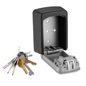 Image 4 - ウォールマウントキー金庫アルミ合金キー収納ボックス 4 桁コンビネーションパスワードボックス屋内屋外での使用