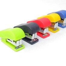 Мини-набор цветных степлеров, милые офисные школьные принадлежности, канцелярские принадлежности, скрепки, переплет, переплет, книга