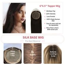 K.sかつら14  20 15X14cm偽の頭皮トッパーヘアピース150% 密度シルクベースバージンキューティクル人間の髪かつら女性のための