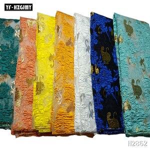 YF HZGJMY африканская кружевная ткань 2019 высокое качество вышитая парча кружево жадность французский Тюль кружевная ткань для Нигерии вечернее платье