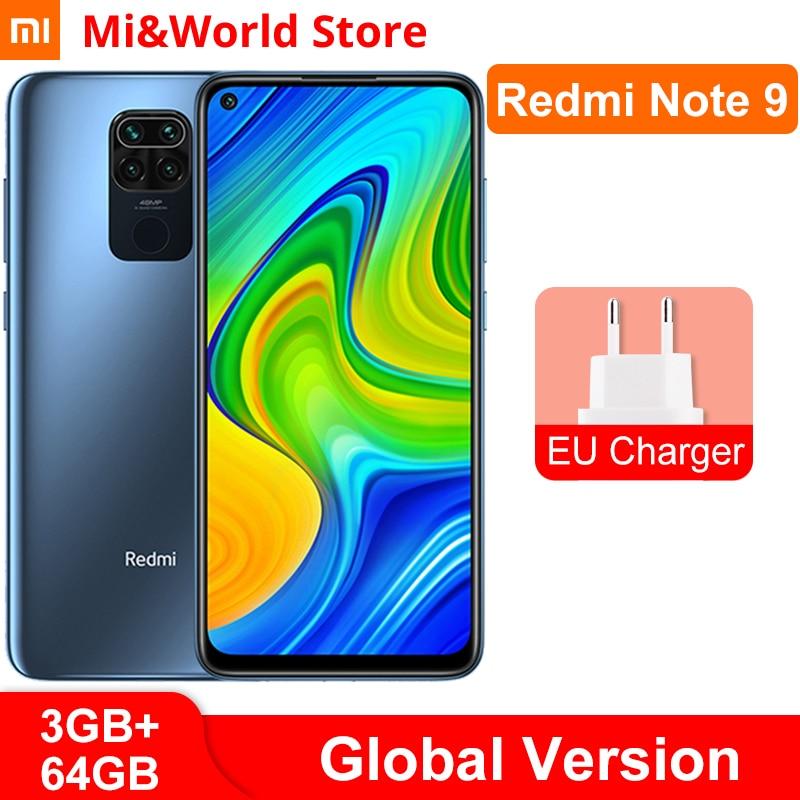 Versão global xiaomi redmi nota 9 3gb ram 64gb rom smartphone mtk helio g85 octa núcleo 48mp quad câmeras 5020mah|Celulares|   - AliExpress