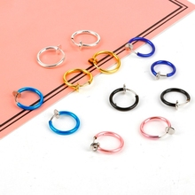 Nose Ring 1Piece/Pair Goth Punk Lip Ear Nose Clip on