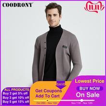 COODRONY ماركة الموضة ملابس التريكو لينة الدافئة سترة الرجال الملابس 2020 الخريف الشتاء الوافدين الجدد سترة معطف جيوب B11