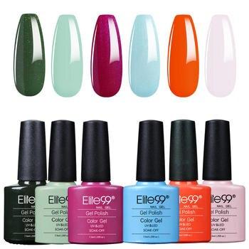 Elite99 7.3ml Classic Color Bottle Gel Nail Polish Set 6Pcs/Set Soak Off UV LED Nail Varnish Nail Art Gel Polish Manicure Kit