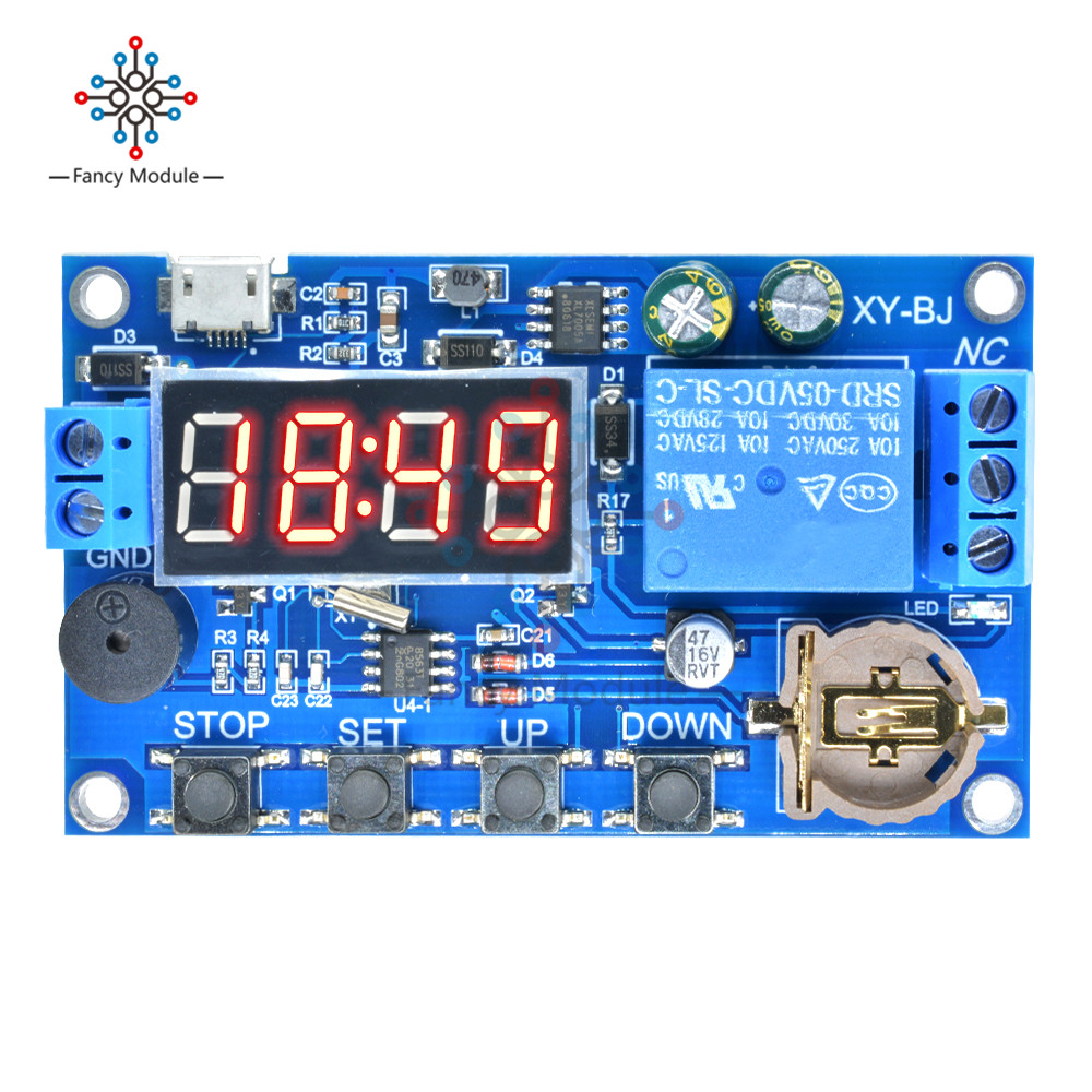 diymore DC 5V Real Timing Delay Timer Switch Control Relay Module Clock Synchronization Multiple Mode