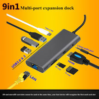 Tipo C Dock USB HUB portátil Docking Station USB 3 0 HDMI 4K HD cable de carga rápida para MacBook Samsung S8 9 plus huawei P20 Estación de conexión para teléfono     -
