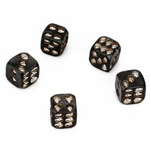 Board-Game Dice Skull Party Skeleton Bones for 5pcs/Set Multi-Sides Pub 18mm Resin