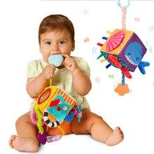 Juguete educativo para bebés, bloques de felpa, móvil infantil muñeco de peluche, conjunto de bloques de construcción, cubos blandos, sonajero, juguetes para bebés de 0 a 12 meses