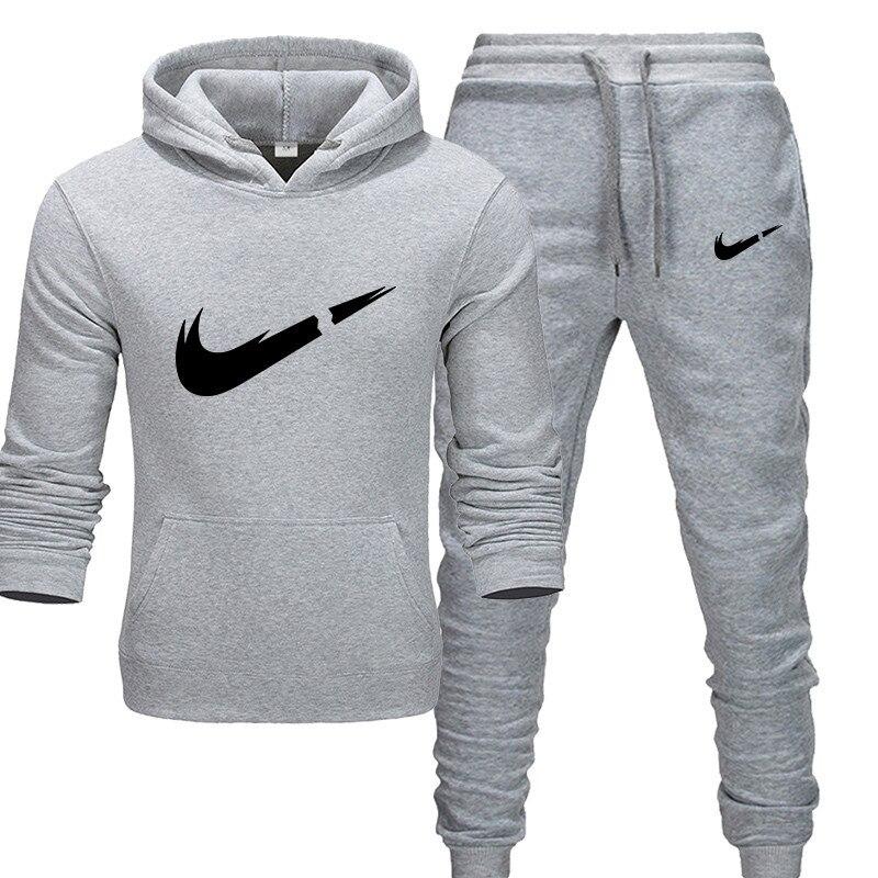 Fashion Men Track suit hoodies Set katsuaki new brand  Men/woman Sweatshirts+Sweatpants Autumn Winter Fleece Hooded Pullover