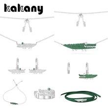 Kakany novo original de alta qualidade 1: 1 zircônia crocodilo série jóias monaco estilo moda charme senhoras moda acessórios