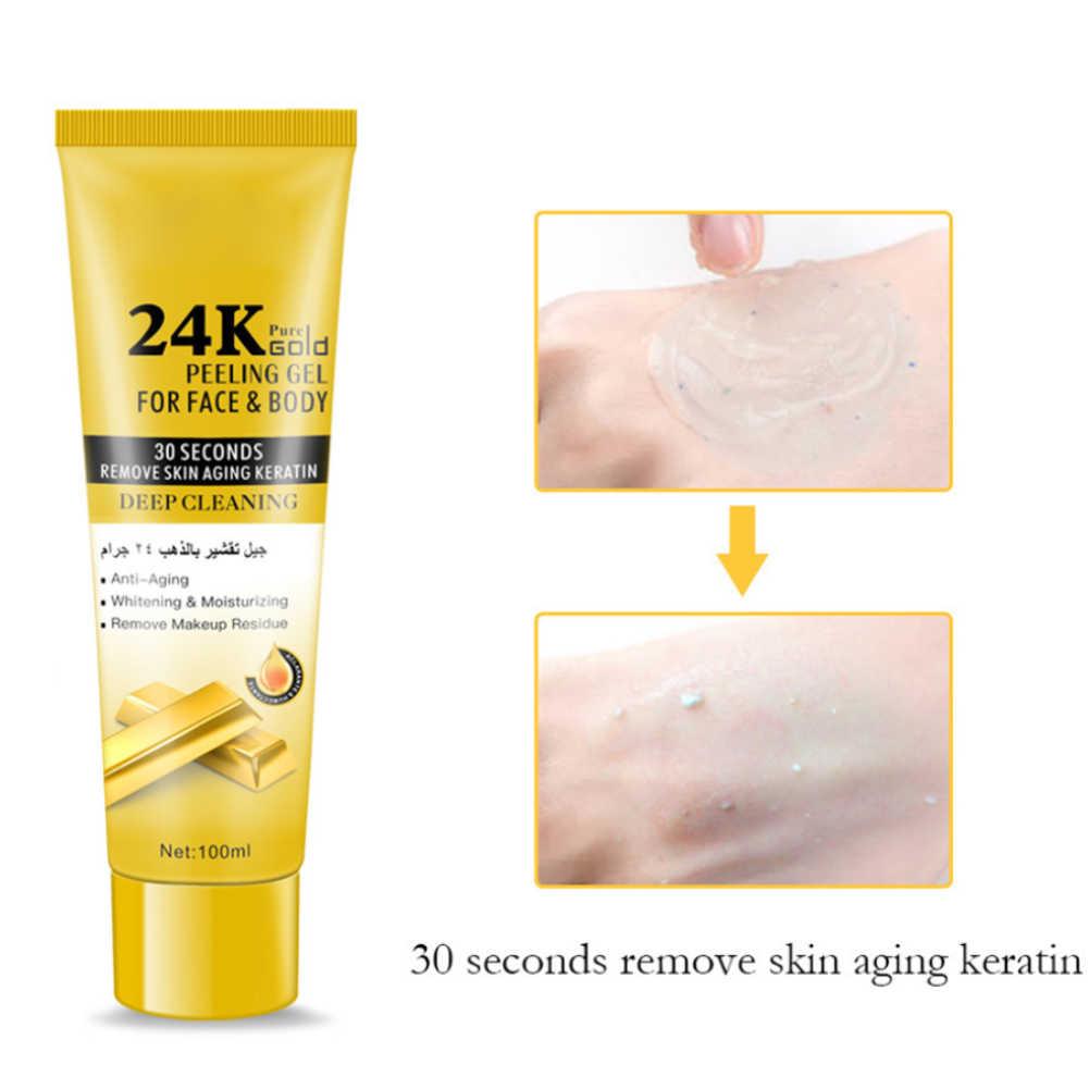 100ml ผู้หญิงลึกทำความสะอาดอุดตันรูขุมขนลบ Dead เซลล์ Peeling เจล Body Moisturizing Exfoliating Facial Scrub Salon