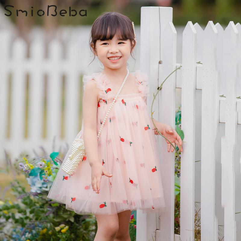 2019 Baby Girls Cartoon Rabbit Mini Dress Age 1-7 Kids Sleeve  T-shirt Dress Top