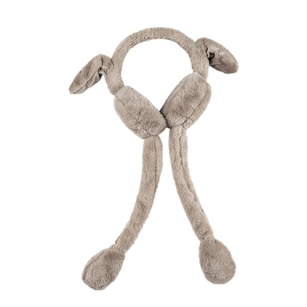 Unisex Warm Earmuffs Foldable Winter Pet Rabbit Cute Airbag Ear Bag Earmuffs Windproof Ear Warm Sports Earmuffs 9.30