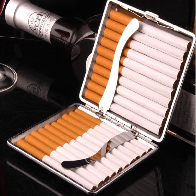 PU Cigars Cigarete Cigarette Tobacoo Case Box Holder Pocket Box Holder Storage Container Gift Box Smoking Accessories