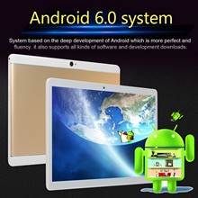 Fashion Tablet PC E-book Reader10.1 Inch Android 6.0 Quad Core Tablet PC 16GB Dual Camera Wifi Bluetooth Dual Card Dual Standby