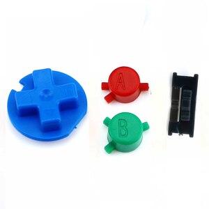 Image 2 - JCD 10 ensemble de boutons colorés ensemble de remplacement pour Gameboy couleur pour GBC Console de jeu bouton marche/arrêt claviers A B D Pads bouton