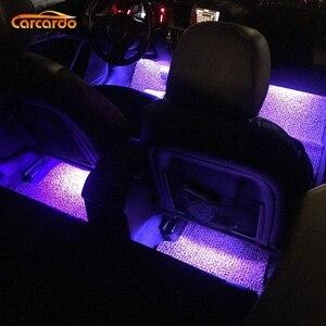 Image 5 - Carcardo Car LED Atmosphere Neon Light Lamp LED Wireless Remote Multi Color RGB Strip Car Interior Lighter
