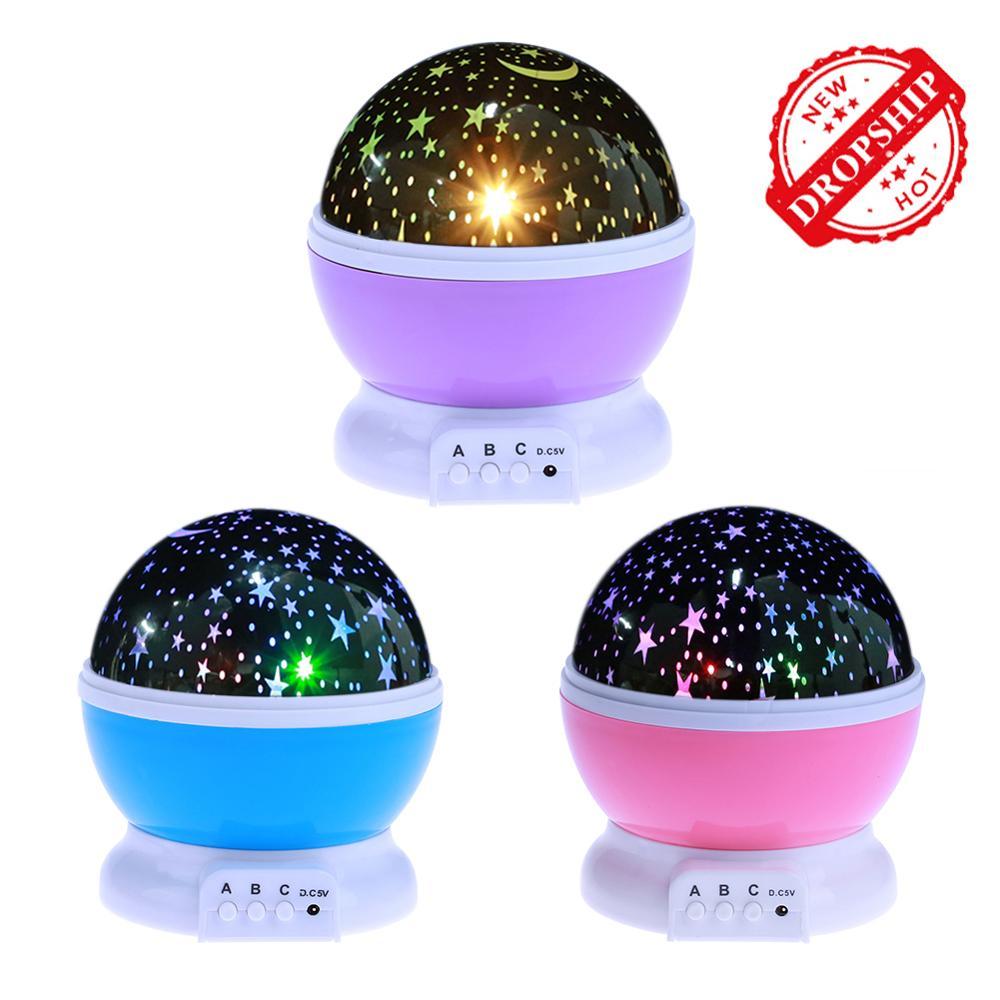 Starry Night Projector Light Children's Night Light Home Decor Moon Lamp Romantic Projector Starry Sky Night Bedside Table Lamp