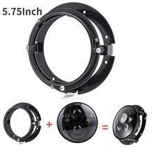 """2Pcs Zwart/Chrome 5 3/4 """"5.75 Inch Koplamp Bracket Kit Voor Motorfiets Mount Brackets Ring Voor 5.75 inch Led Koplampen"""