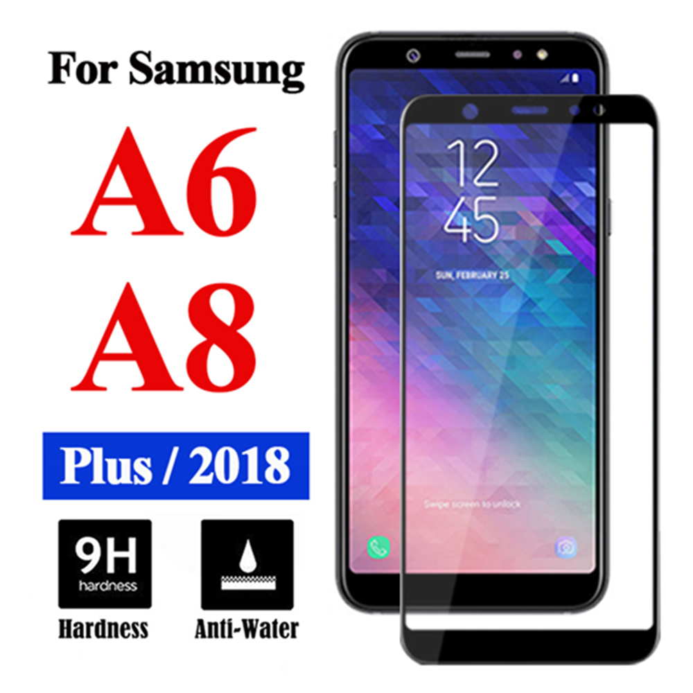 Protective Armored <font><b>Glass</b></font> On The For <font><b>Samsung</b></font> Galaxy A8 Plus <font><b>2018</b></font> A6 Screen Protector <font><b>A</b></font> 6 <font><b>8</b></font> Tempered Glas Sheet Cam Tremp 9h Film image
