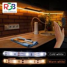 Led light strips With Motion Sensor, 5V 2A USB powered SMD2835 30 leds/M DIY White warm white led strip