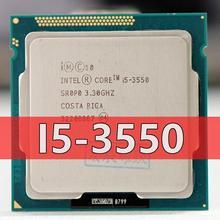 Intel Core i5 3550 i5 3550 dört çekirdekli İşlemci (6M önbellek, 3.3GHz) LGA1155 PC bilgisayar masaüstü işlemci