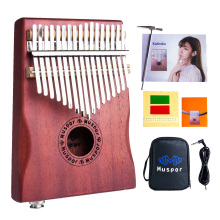 Pickup Music-Instrument Kalimba Electric-Thumb-Piano Mbira-Africa Muspor Mahogany 17-Key