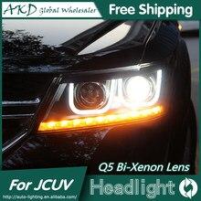 Akd carro para fiat freemont faróis 2012-2015 dodge journey jcuv led farol drl bi xenon lente alta baixo feixe de estacionamento nevoeiro lâmpada