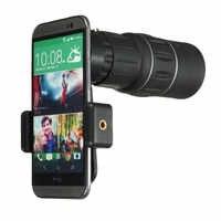 16X52 Monocular Telephoto Telescope Zoom Smartphone Phone Camera Lens Scope Binoculars Hiking with Phone Holder For Huawei