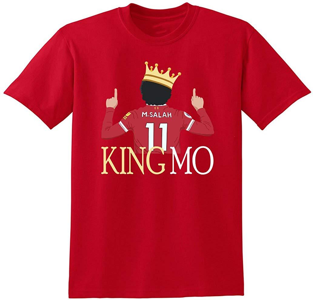Camiseta de algodão de 100% das mulheres dos homens do rei mo do liverpool vermelho t camisa