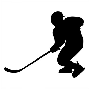 18x14cm Ice hockey Sportman Boy Stickers athlete Lover Car Stickers Decals For Car Window Door Logo Art Vinyl Mural CL327 image