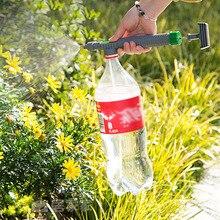 Pistola do trole ajustável bico aspersor bomba de ar alta pressão pulverizador manual garrafa bebida cabeça pulverizador jardim rega