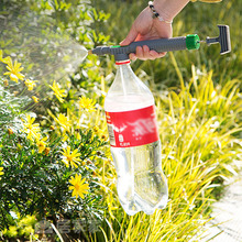 Verstelbare Trolley Spuitpistool Sprinkler Hoge Druk Luchtpomp Handmatige Spuit Drink Fles Sproeikop Mondstuk Tuin Besproeien