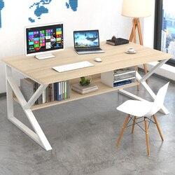 Mesa de conferencia simple moderno Escritorio de oficina Muebles de ordenador escritorio silla combinación Escritorio de personal 4-6 personas